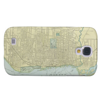 Mapa del vintage de Toronto (1901) Funda Para Galaxy S4