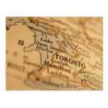 Mapa del vintage de TORONTO Postales