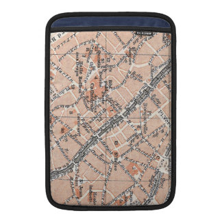 Mapa del vintage de Tournai Bélgica (1905) Fundas Macbook Air