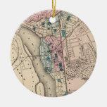 Mapa del vintage de Trenton NJ (1872) Ornamento De Reyes Magos