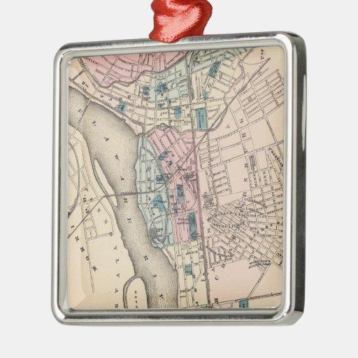 Mapa del vintage de Trenton NJ (1872) Ornamentos De Reyes Magos