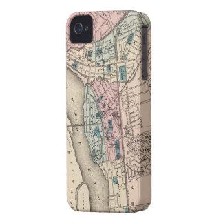 Mapa del vintage de Trenton NJ 1872 iPhone 4 Protector