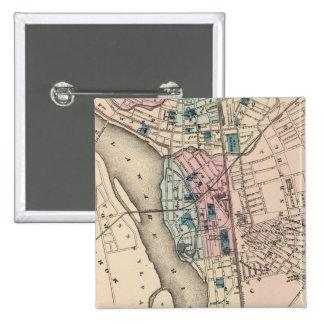 Mapa del vintage de Trenton NJ 1872 Pins