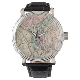 Mapa del vintage de Trenton NJ (1872) Reloj