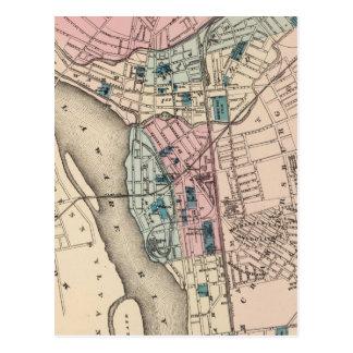 Mapa del vintage de Trenton NJ (1872) Postal