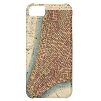 Mapa del vintage de un New York City más bajo (180