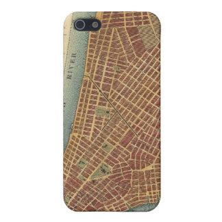 Mapa del vintage de un New York City más bajo (180 iPhone 5 Carcasas