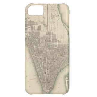 Mapa del vintage de un New York City más bajo (184