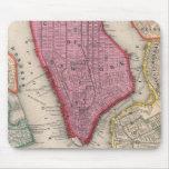 Mapa del vintage de un New York City más bajo (186 Alfombrilla De Ratón