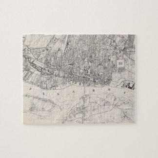 Mapa del vintage de Varsovia Polonia 1836 Puzzle