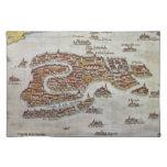 Mapa del vintage de Venecia (1649) Mantel