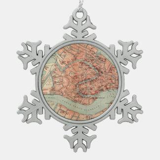 Mapa del vintage de Venecia Italia (1920) Adornos