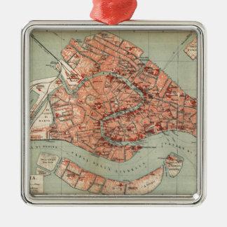Mapa del vintage de Venecia Italia (1920) Ornamentos Para Reyes Magos