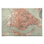 Mapa del vintage de Venecia Italia (1920) Manteles