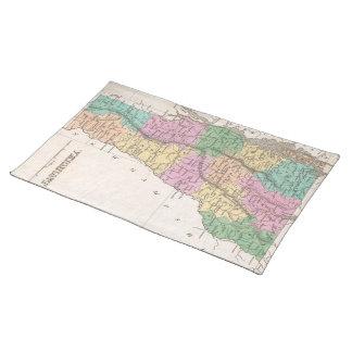 Mapa del vintage de Vermont (1827) Manteles