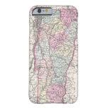Mapa del vintage de Vermont (1855) Funda De iPhone 6 Barely There