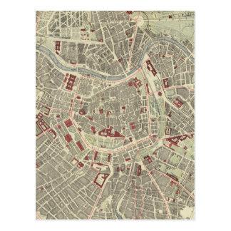 Mapa del vintage de Viena Austria (1883) Tarjetas Postales