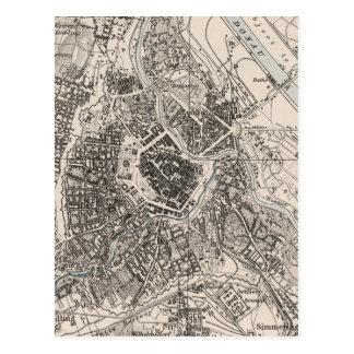 Mapa del vintage de Viena Austria (1906) Postales