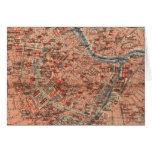 Mapa del vintage de Viena Austria (1920) Tarjetón
