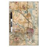 Mapa del vintage de Virginia del noreste (1862) Pizarras Blancas