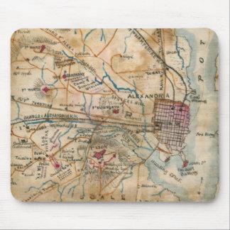 Mapa del vintage de Virginia del noreste (1862) Tapetes De Ratón