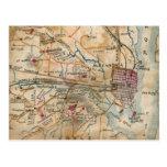 Mapa del vintage de Virginia del noreste (1862) Tarjeta Postal
