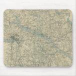 Mapa del vintage del área de Richmond Virginia (18 Alfombrilla De Ratones