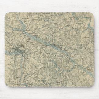 Mapa del vintage del área de Richmond Virginia (18 Alfombrillas De Ratones