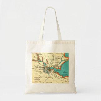 Mapa del vintage del bolso de AMSTERDAM Bolsa De Mano
