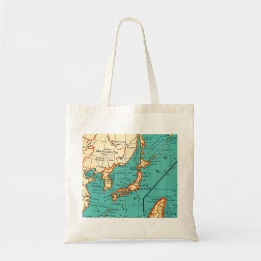 Mapa del vintage del bolso de JAPÓN Bolsa