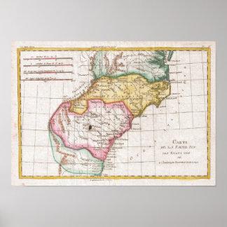 Mapa del vintage del Carolinas (1780) Impresiones