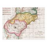 Mapa del vintage del Carolinas (1780) Postal