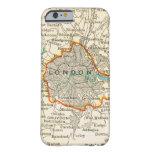 Mapa del vintage del caso del iPhone 5 de LONDRES