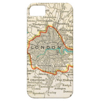 Mapa del vintage del caso del iPhone 5 de LONDRES iPhone 5 Fundas