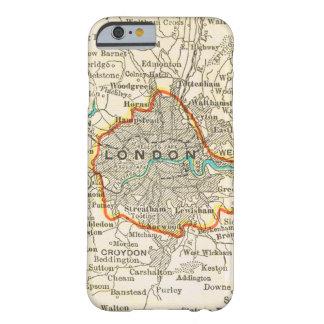 Mapa del vintage del caso del iPhone 6 de LONDRES Funda Para iPhone 6 Barely There