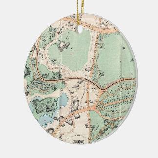 Mapa del vintage del Central Park (1860) Ornamentos De Reyes
