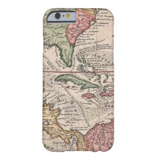 Mapa del vintage del del Caribe (1732) Funda Para iPhone 6 Barely There