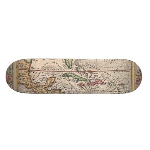 Mapa del vintage del del Caribe (1732) Patin