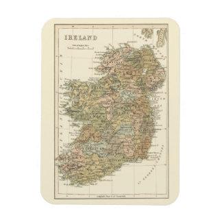 Mapa del vintage del Flexi-Imán 1862 de Irlanda Imán