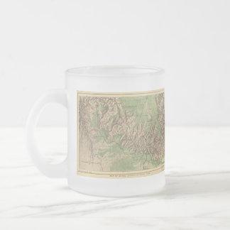 Mapa del vintage del Gran Cañón (1926) Taza Cristal Mate