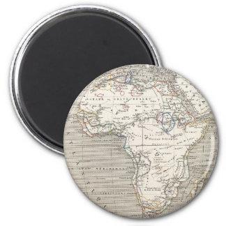 Mapa del vintage del imán de África