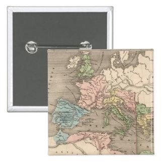 Mapa del vintage del imperio romano (1838) pin