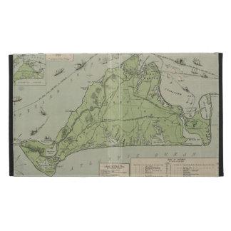 Mapa del vintage del Martha's Vineyard (1913)