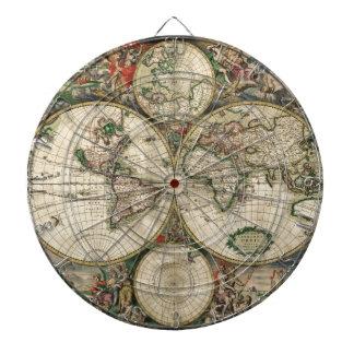 Mapa del vintage del mundo (1689)