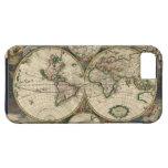 Mapa del vintage del mundo (1689) iPhone 5 Case-Mate funda