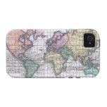 Mapa del vintage del mundo (1780) iPhone 4/4S carcasa