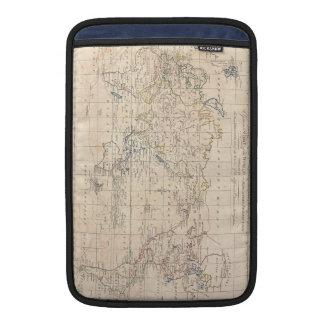 Mapa del vintage del mundo (1799) fundas para macbook air