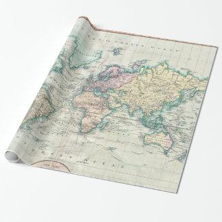 Mapa del vintage del mundo (1801)