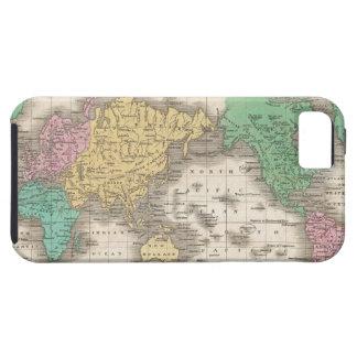 Mapa del vintage del mundo (1827) iPhone 5 Case-Mate cobertura