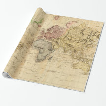 Mapa del vintage del mundo (1831)